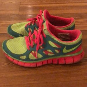 Neon Nike Frees